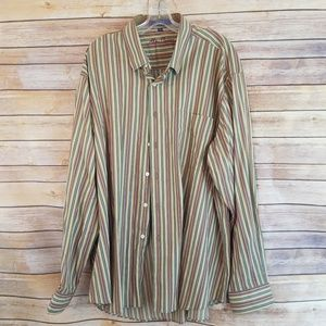 Alan Flusser Brown Striped Shirt